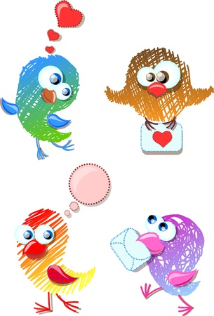 Lovely birds for your design  Vector