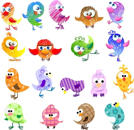 Lovely birds for your design Stock Vector - 11499474