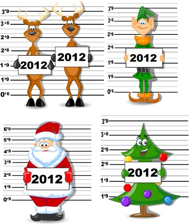 caribou: Arrested Santa, Reindeer, Elves, Christmas Tree