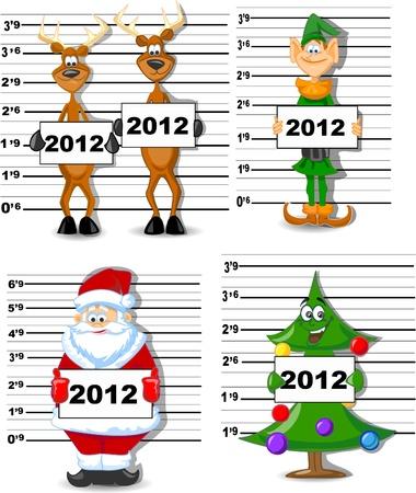 plush: Arrested Santa, Reindeer, Elves, Christmas Tree