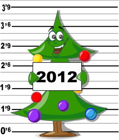 Arrested Christmas Tree Stock Vector - 11499445