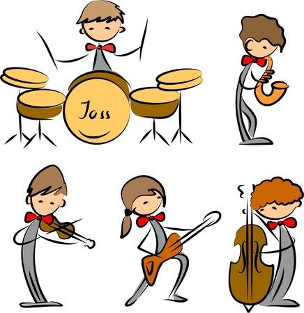 chef d orchestre: ensemble d'ic�nes Musique Illustration