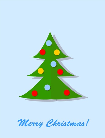 Christmas tree from paper, vector background  Vector