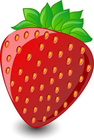 Cartoon strawberries Vector