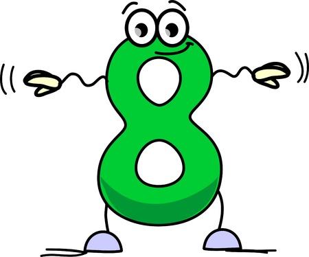 digit 8: Cartoon number eight