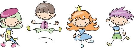 preschool: Cute happy kids
