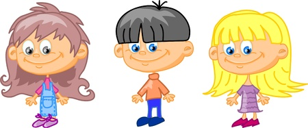 cartoon children, students Stock Vector - 11657428