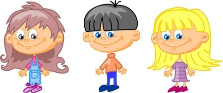cartoon children, students Stock Vector - 11657428