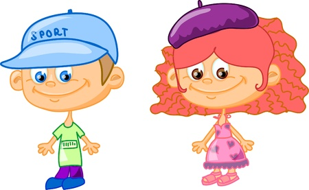 set cartoon children  Stock Vector - 11657431