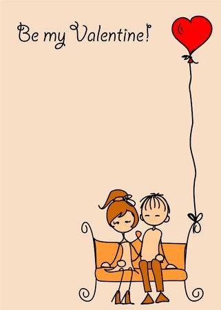 dress coat: San Valentino ragazzo e ragazza doodle