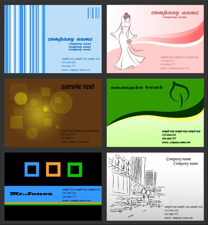 Set with business cards  Stock Vector - 11809012