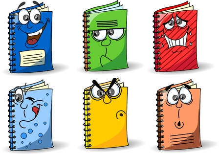 protractor: Cartoon school notebooks Illustration