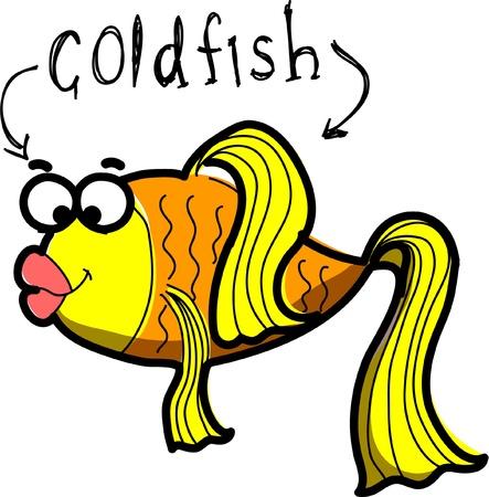 plunging: Marine fish, vector illustration Illustration