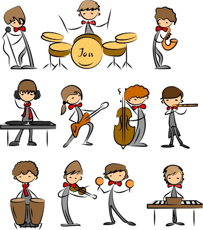 flute music: set of Music vector icons