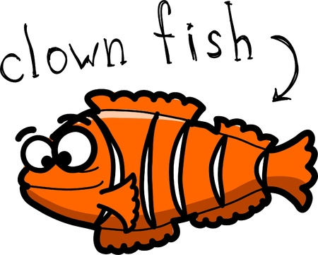 Cartoon clown fish Vector