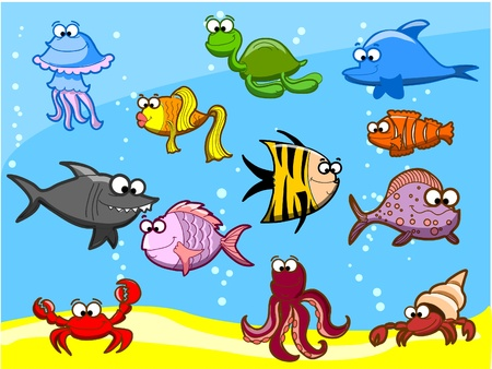 Marine fishes, illustration Stock Vector - 11951112