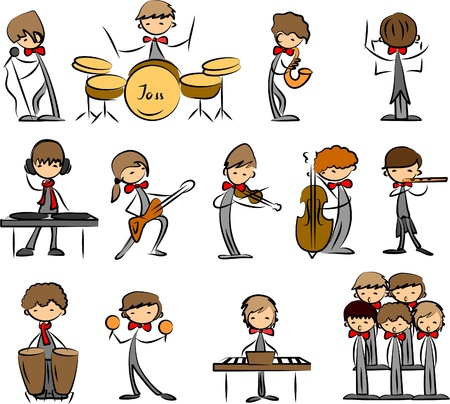 concert flute: set of Music vector icons