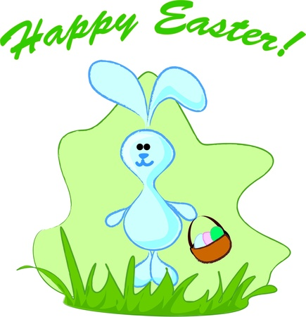 Easter bunny with Easter eggs Stock Vector - 11978850