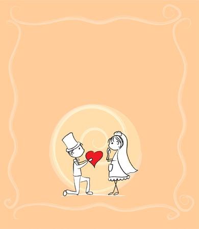 la mariée et le marié à un mariage, le vecteur Vecteurs
