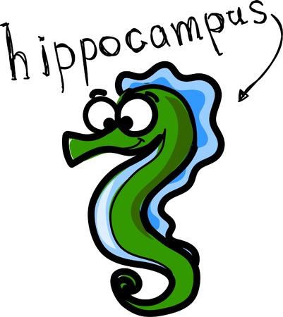 cartoon seahorse