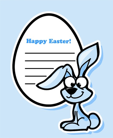 Easter stickers with the rabbit Stock Vector - 12040840