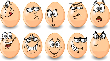painted face: Cartoon easter eggs, happy easter