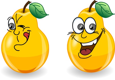 rind: Cartoon pears with emotions