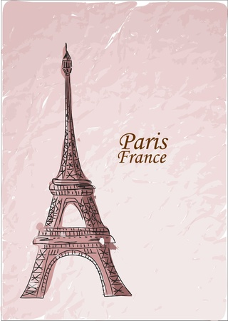 Travel to Paris, vector background  Vector