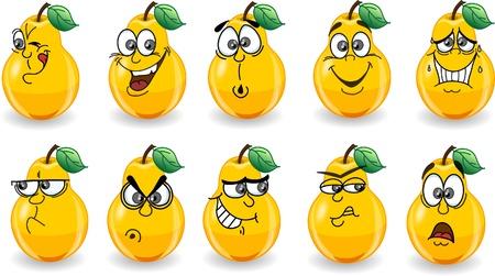 poires: Les poires avec Cartoon �motions