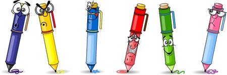 packing supplies: Cartoon school pen