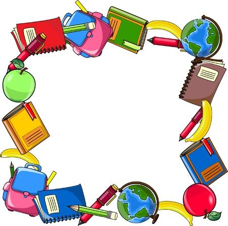 finishing school: School background, vector