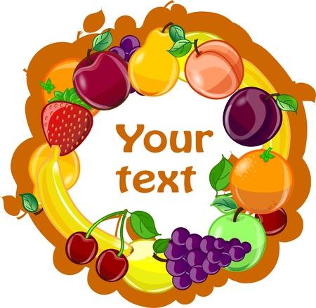 fruity: Fruit background, vector  Illustration