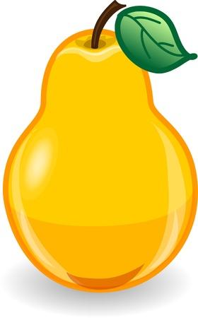 fruit: Cartoon pear
