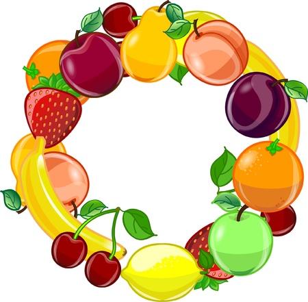 Fruit background, vector Stock Vector - 12480576