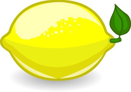 lemon slice: Cartoon lemon