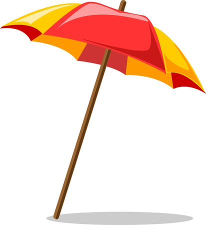 beach umbrella  Stock Vector - 12480629
