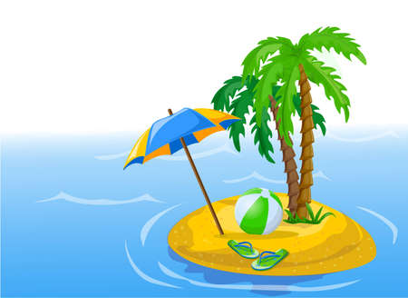 flipflops: Travel background, palm, ball, flip-flops