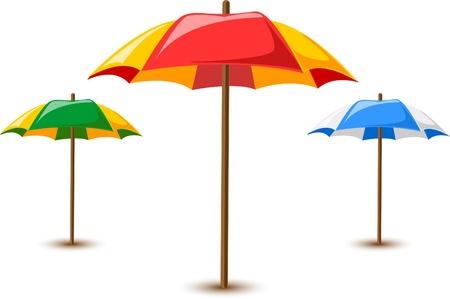 reclining: beach umbrellas  Illustration