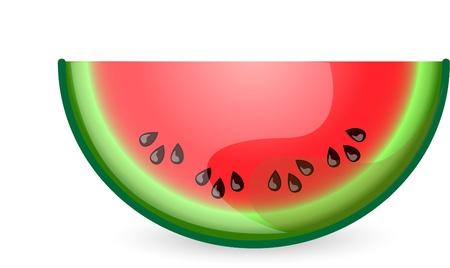 watermelon juice: Cartoon watermelon