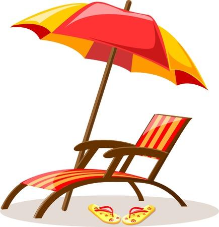 summer vacation: Travel background, lounge Illustration