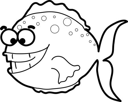 shell fish: Cartoon fish  Illustration
