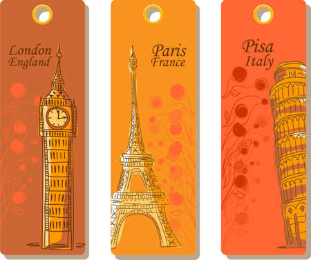 Labels for travel around the world, the vector  Vector