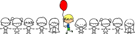 variously: do not be afraid to be not like others, cute children,