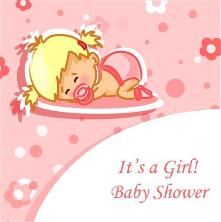 Carte d'annonce avec le bébé