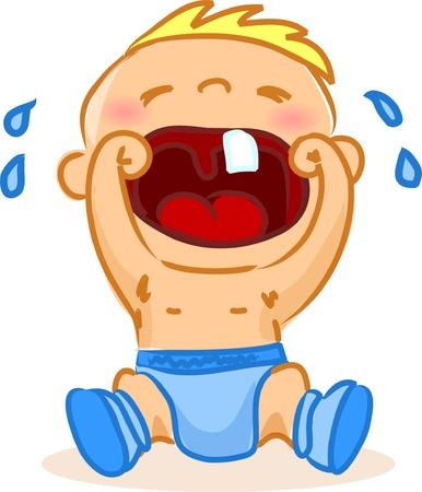 smile: Illustration of baby boy