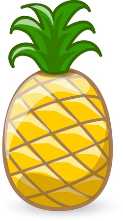 Cartoon pineapple  Stock Illustratie