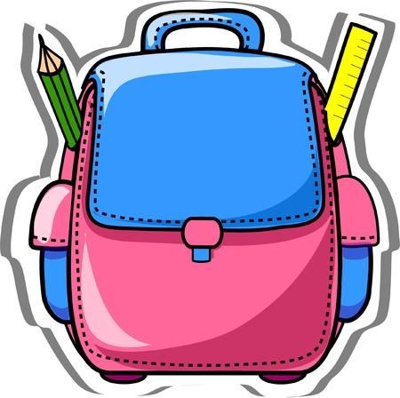school bag: Cartoon sacchetto di scuola