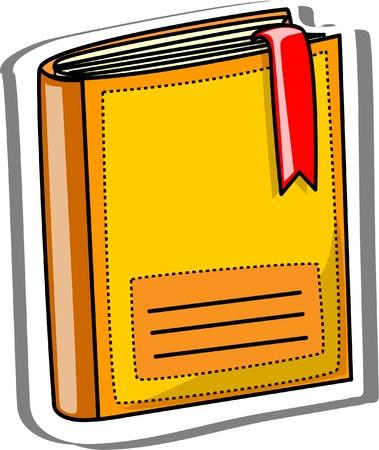 writing equipment: Cartoon school book  Illustration