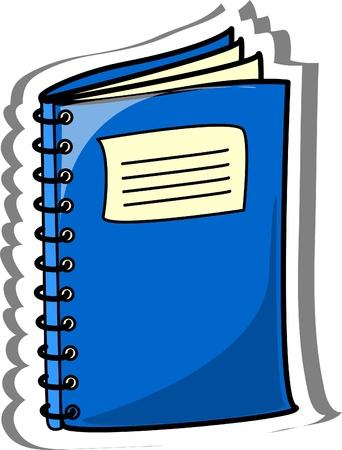 packing supplies: Cartoon school notebook  Illustration