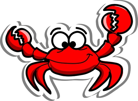 Leuke cartoon krab